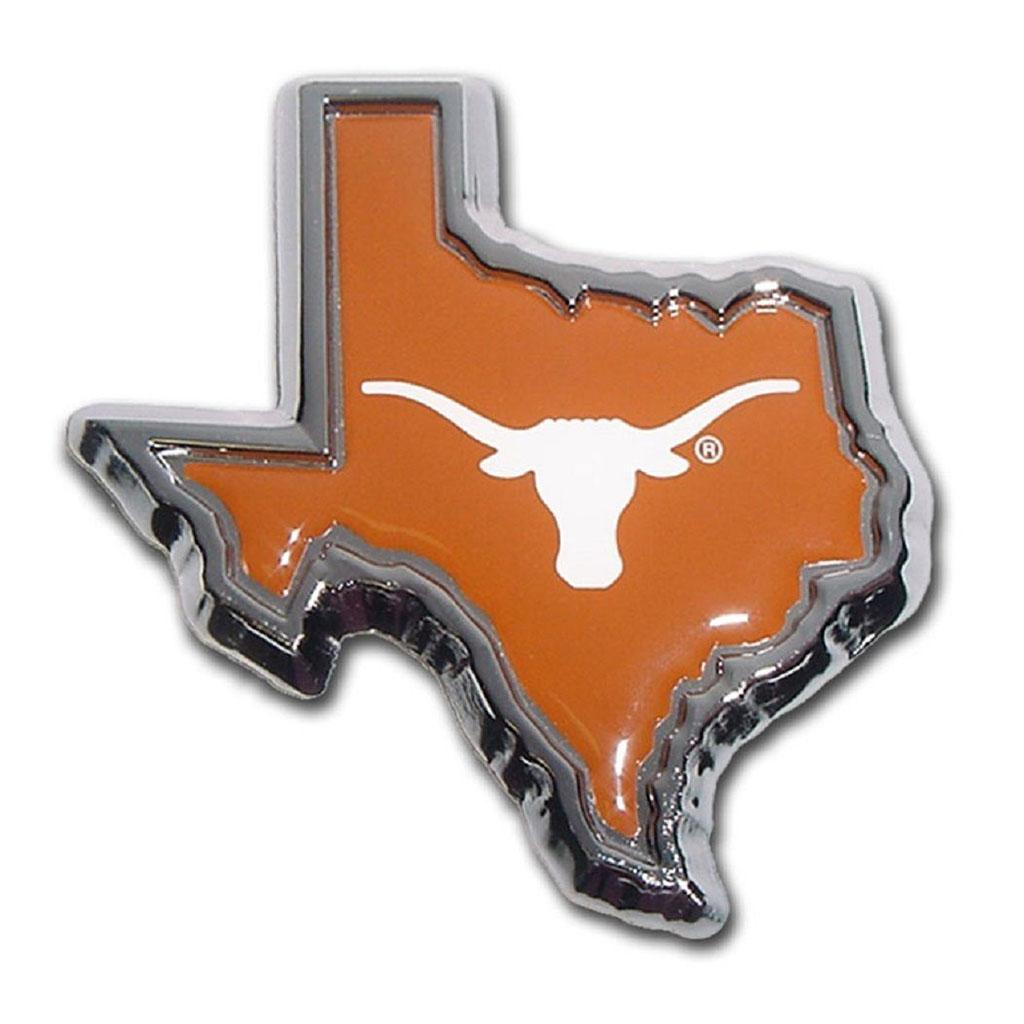University of Texas Longhorn Orange Metal Premium Car Auto Emblem