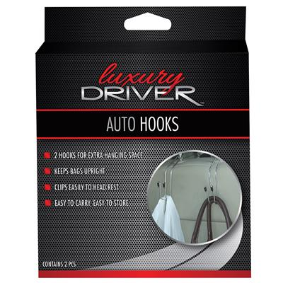 Luxury Driver Auto Hooks 2 Pack