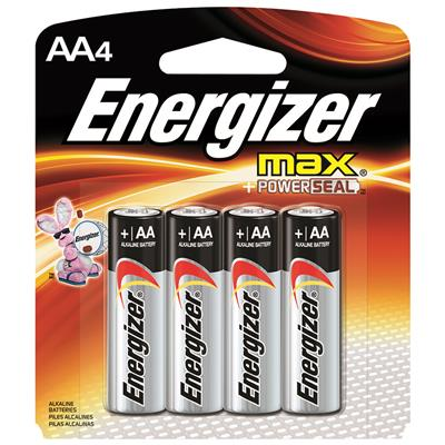 Energizer Max AA Battery 4 Pack