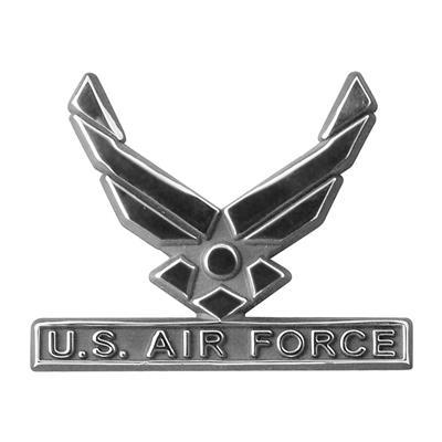 Chrome Auto Emblem - U S  Air Force