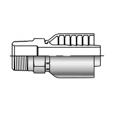 Parker Male Pipe Thread 3/8 Inch Pipe Hose Crimp Fitting